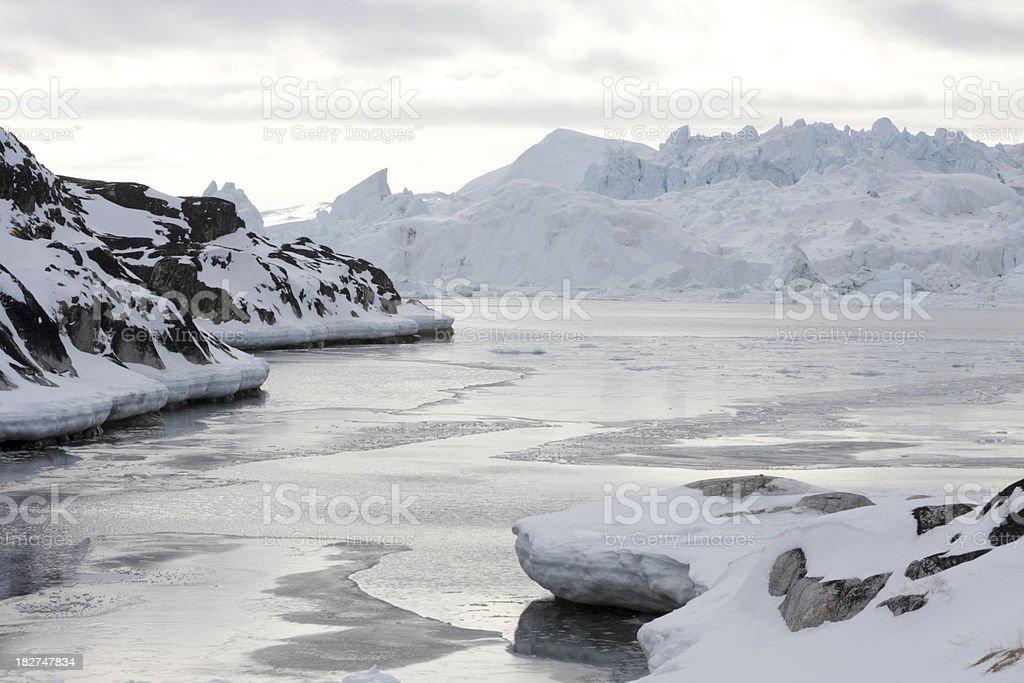 Greenland landscape stock photo