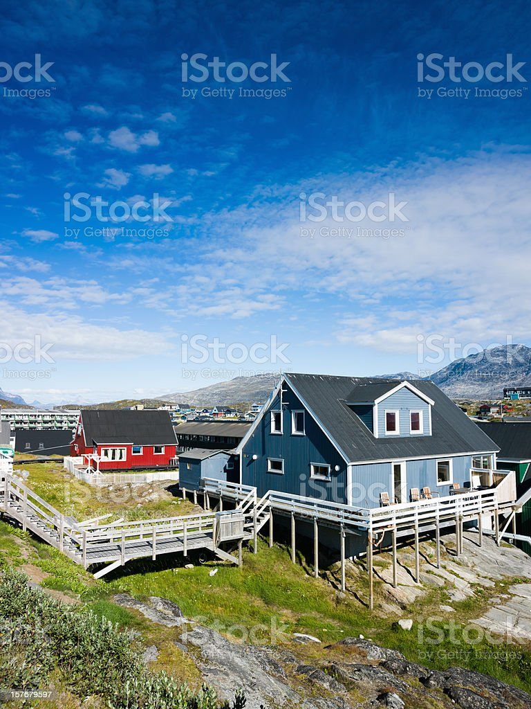 Greenland Nuuk Godthab in Summer stock photo