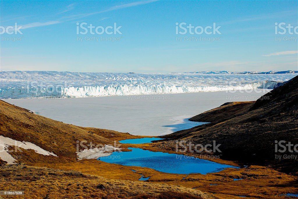 Greenland - On the edge of the Icecap stock photo