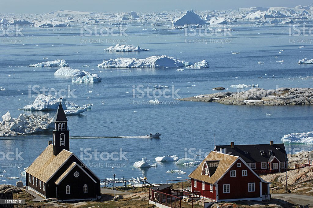 Greenland town royalty-free stock photo