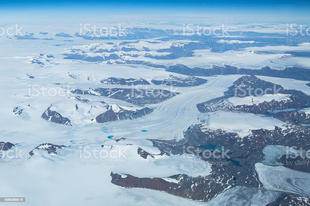 Greenland westcoast stock photo