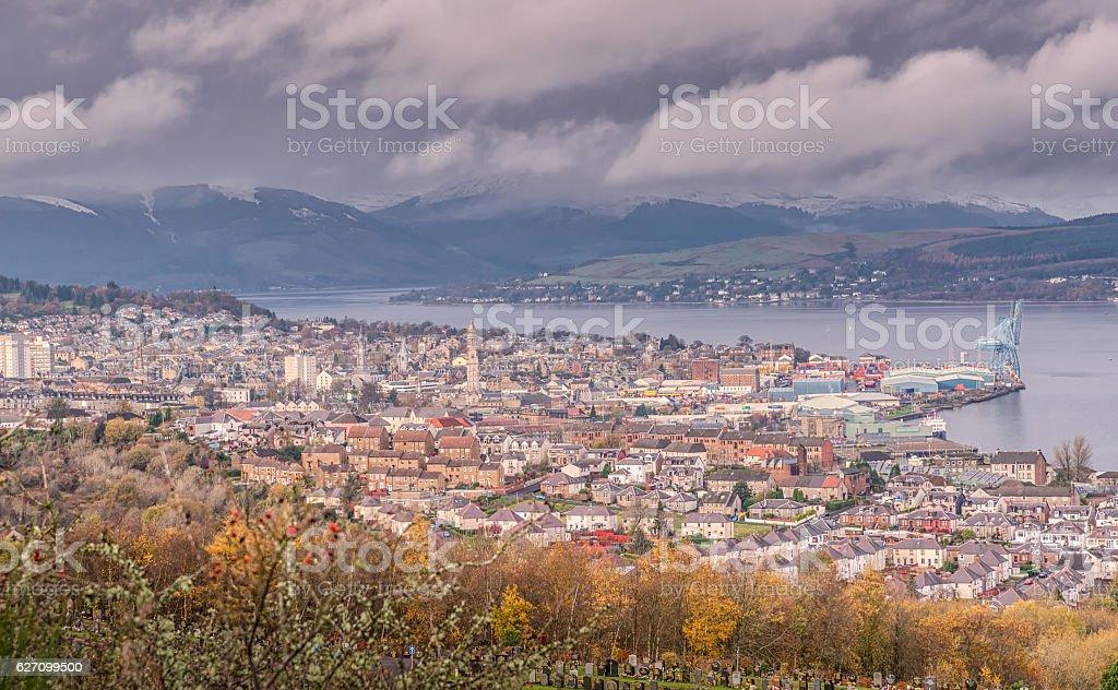 Greenock Town Inverclyde Scotland stock photo