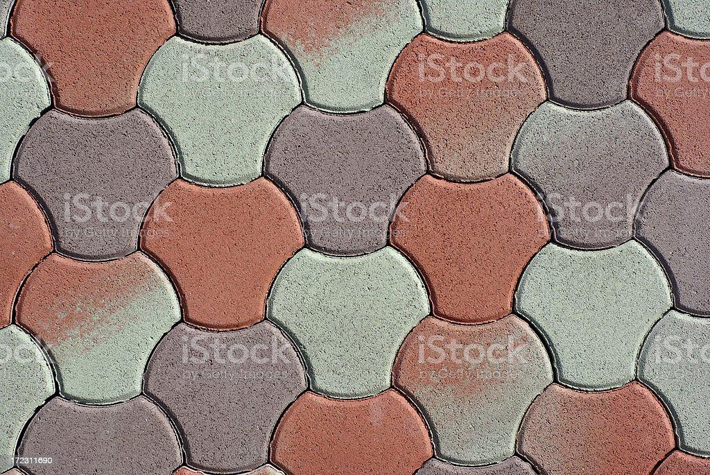 Green-red brick pattern. royalty-free stock photo