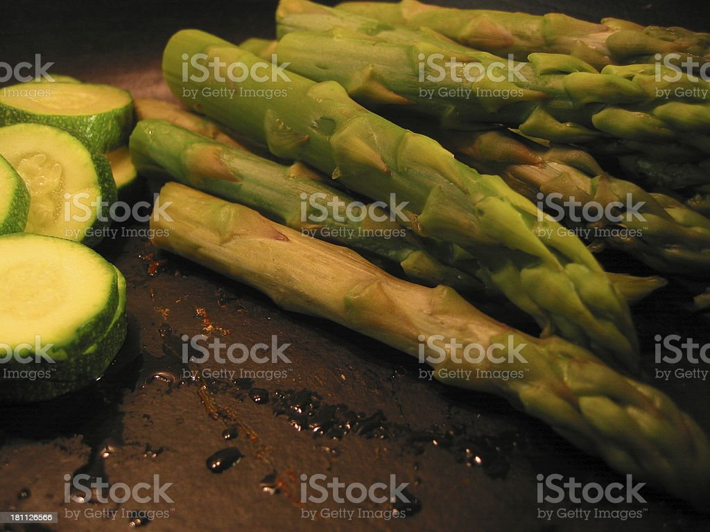 Greens - Asparagus and 1 Other royalty-free stock photo