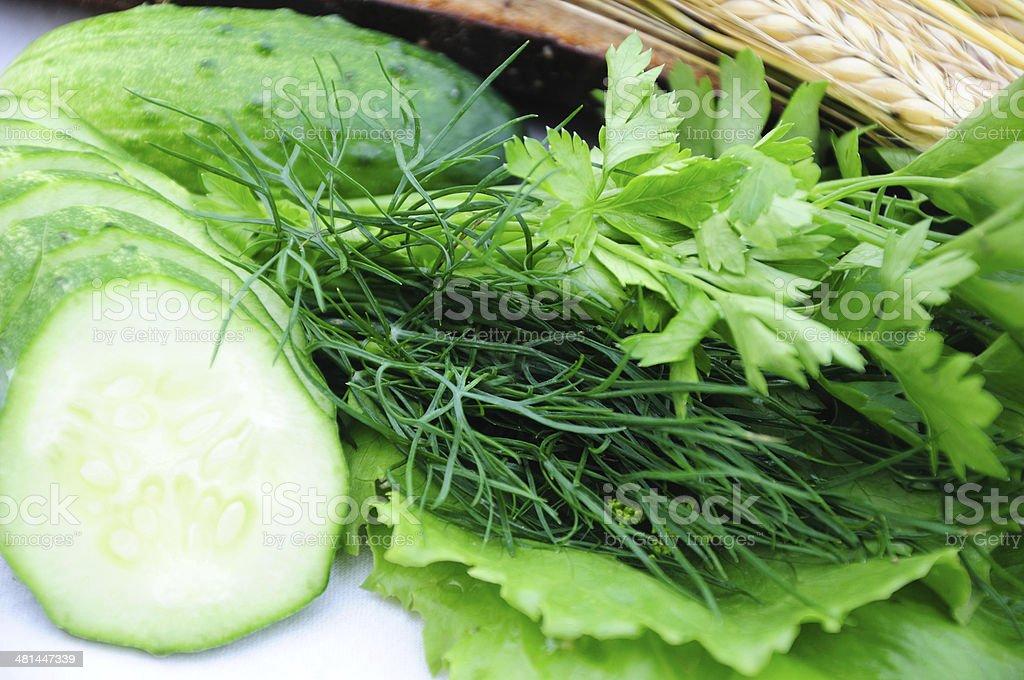 greens closeup stock photo