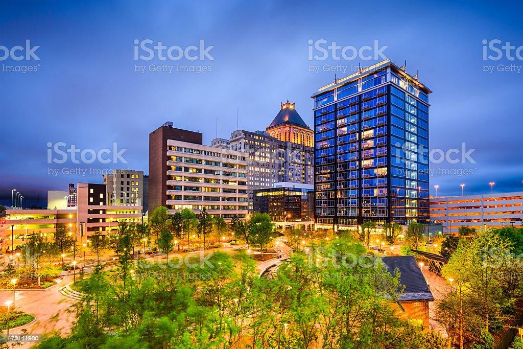 Greensboro, North Carolina Skyline stock photo