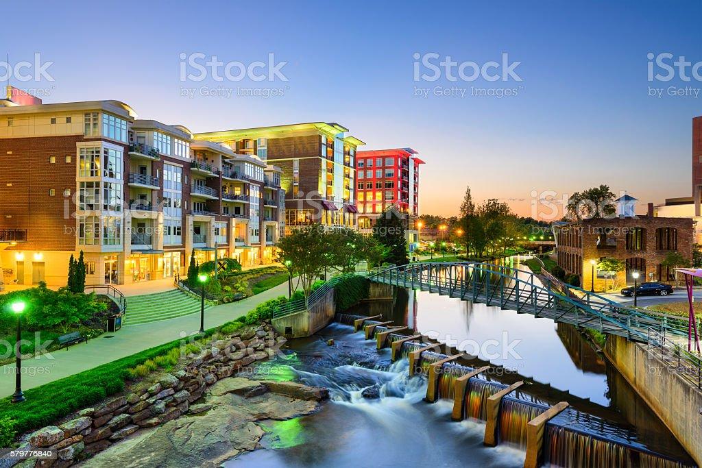 Greenville, South Carolina Cityscape stock photo