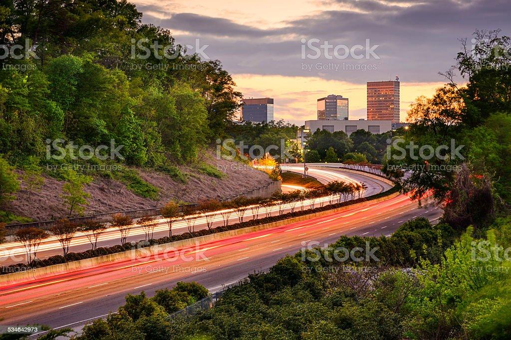 Greenville, South Carolina Highway stock photo