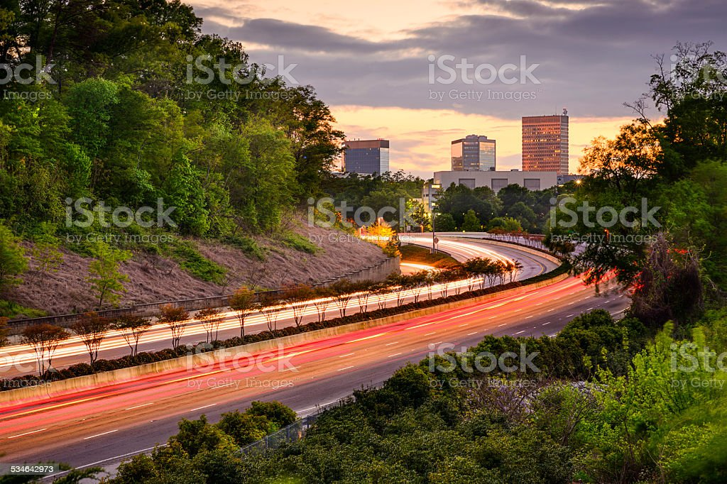 Greenville, South Carolina Highway stock photo