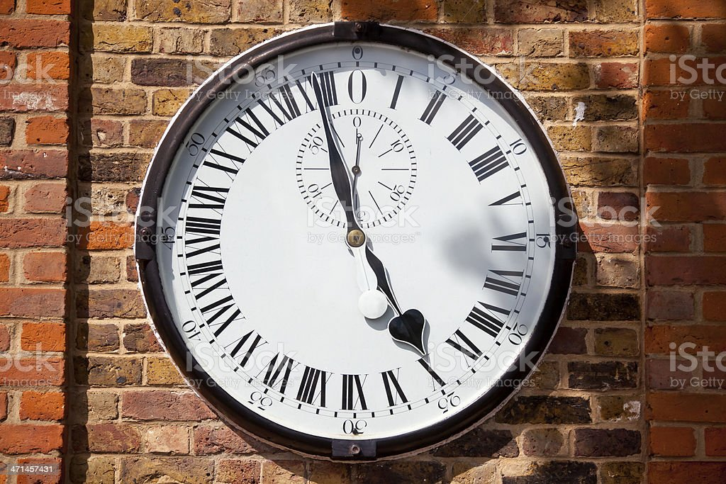 Greenwich 24 Hour Clock stock photo