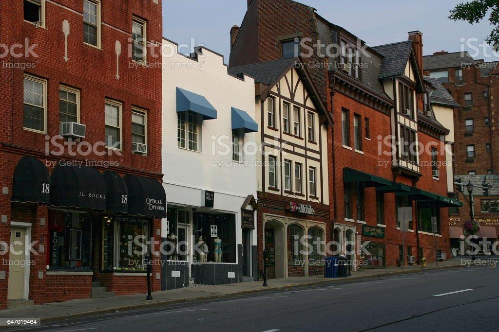 Greenwich Avenue stock photo