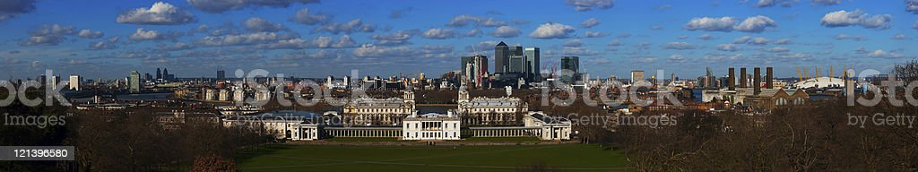 Greenwich, Canary Wharf and the City, London royalty-free stock photo