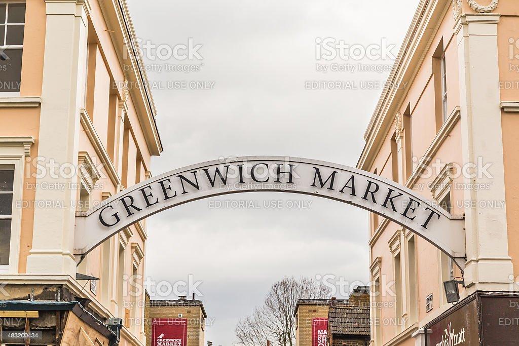 Greenwich Market stock photo