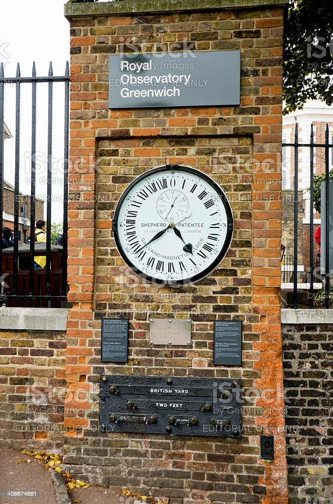 Greenwich Mean Time - GMT stock photo