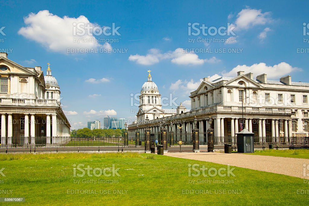 Greenwich Painted hall and Royal navy chapel. London stock photo