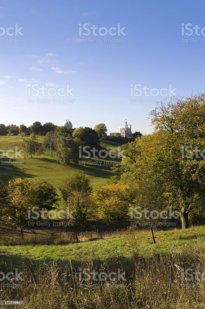 Greenwich Park and Royal Observatory stock photo