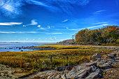 Greenwich Point Park Shoreline in Autumn