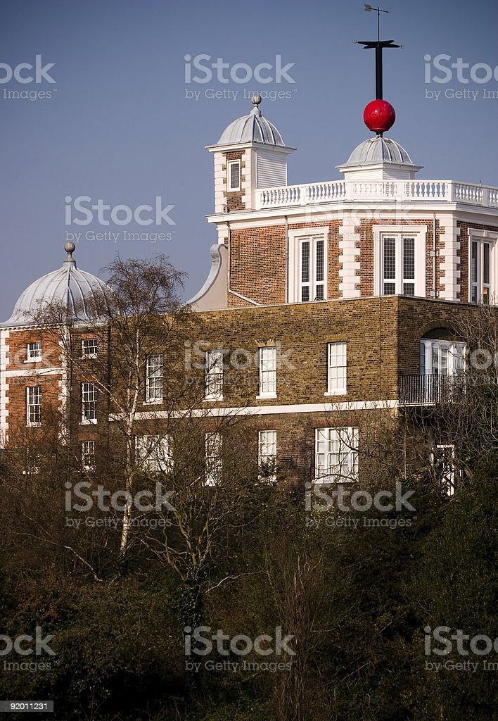 Greenwich Royal Observatory Red Time Ball, London, UK stock photo