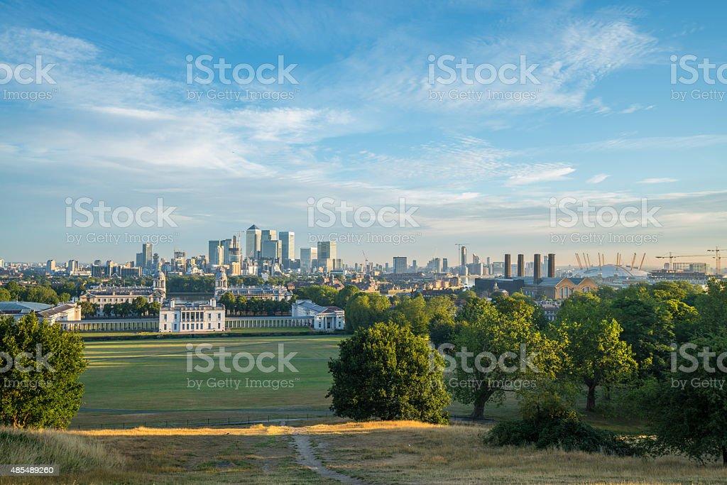 Greenwich sunrise stock photo