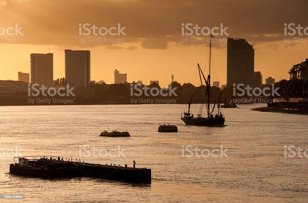 Greenwich sunset stock photo