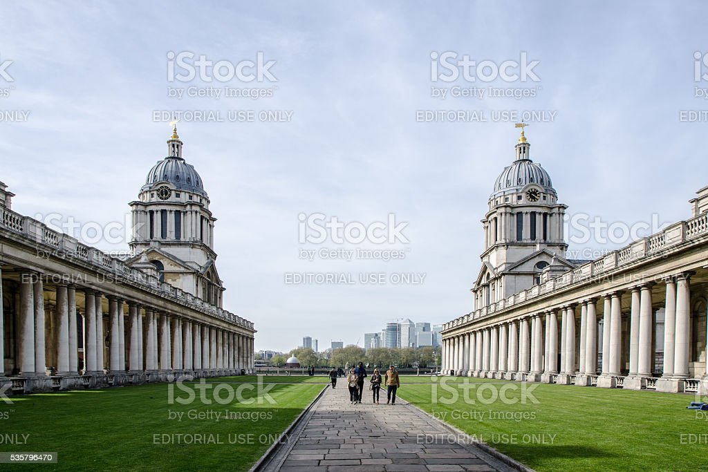 Greenwich University: Queen Mary Court and King William Court stock photo