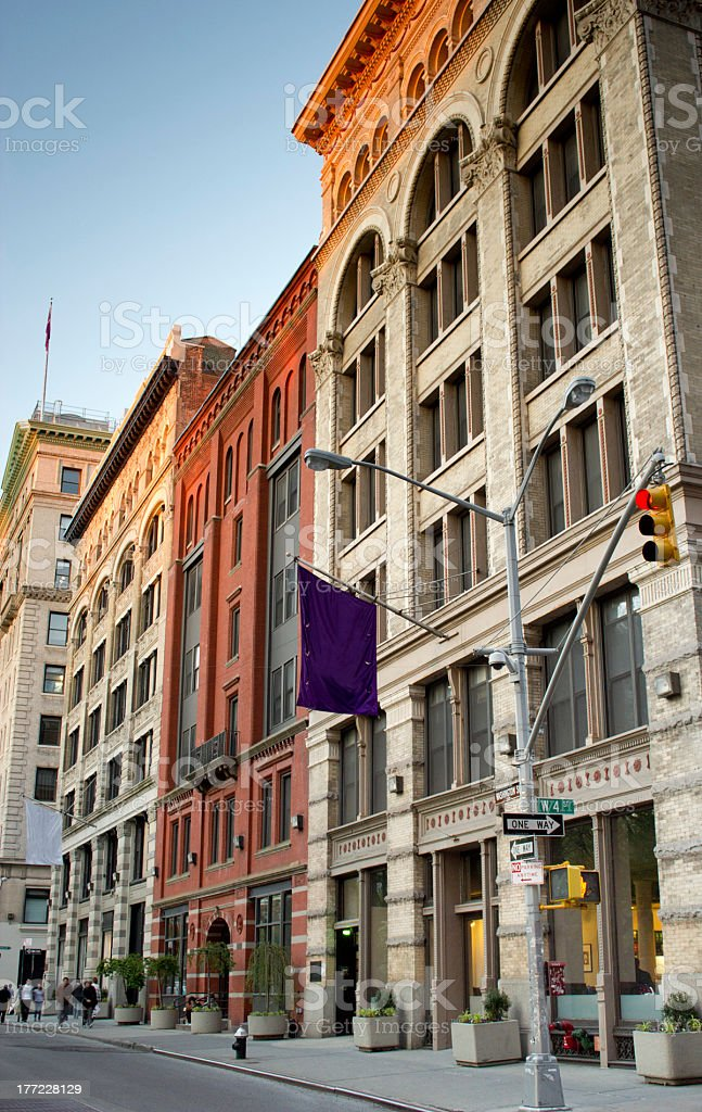 Greenwich Village buildings, NY stock photo
