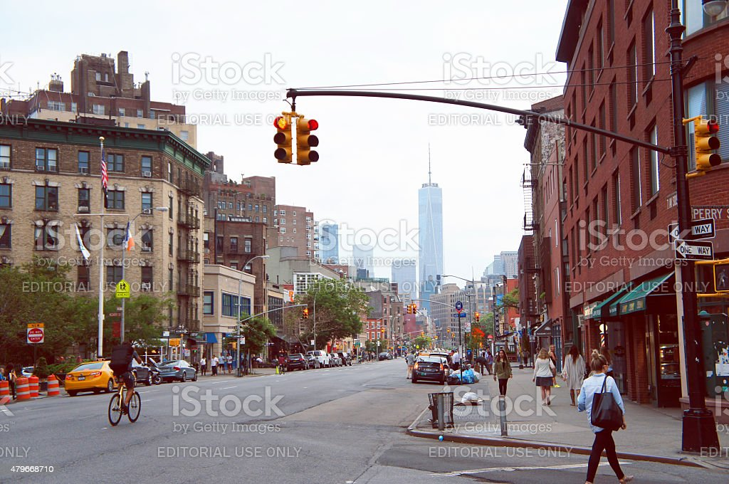 Greenwich village historic district of New York stock photo