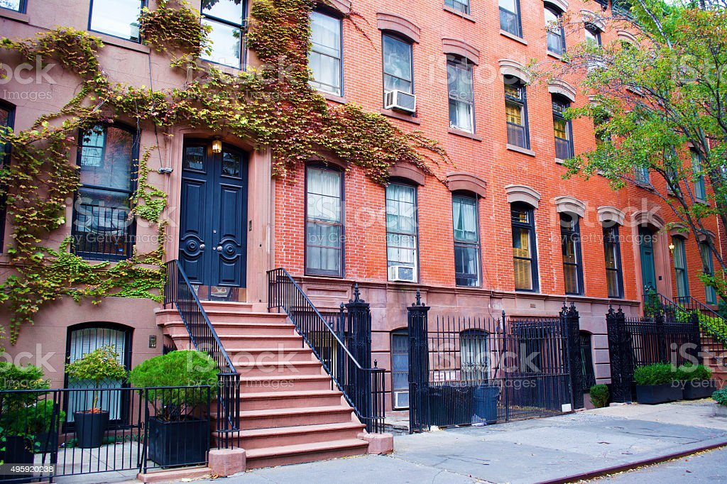 Greenwich Village Homes New York City stock photo