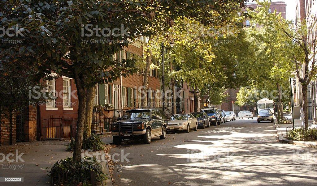 Greenwich Village Street stock photo