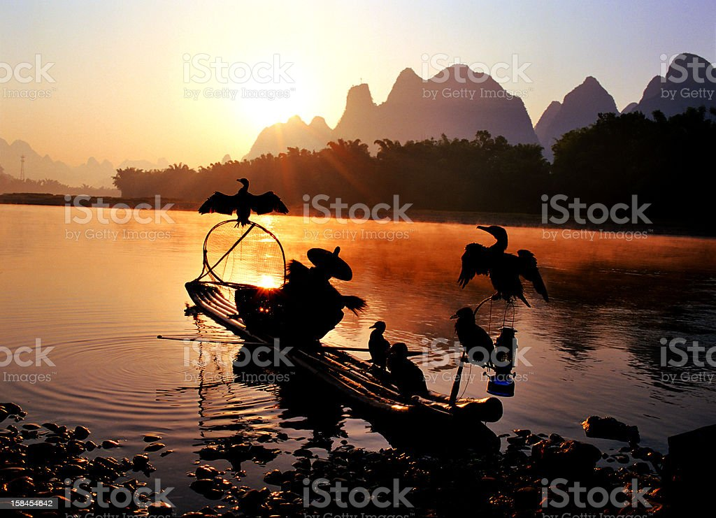Greet the morning in Guilin royalty-free stock photo