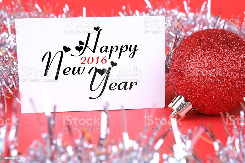 greeting card 2016 stock photo