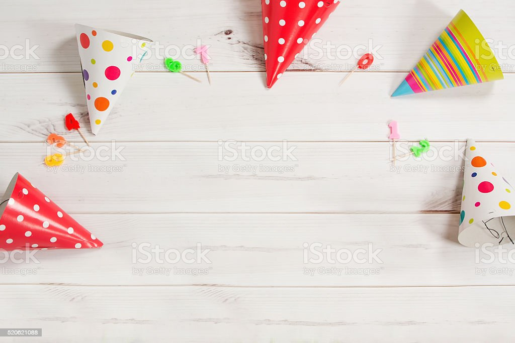 Greeting card for carnival party. stock photo