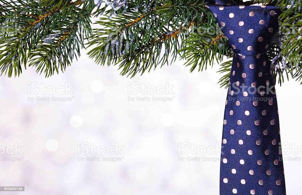 Greeting card for the man on Christmas stock photo