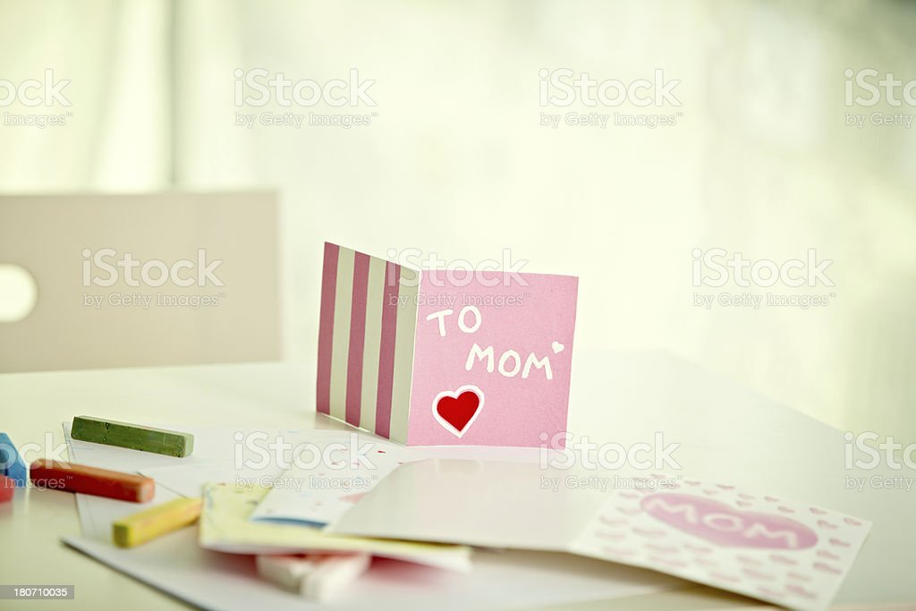 Greeting card from child royalty-free stock photo