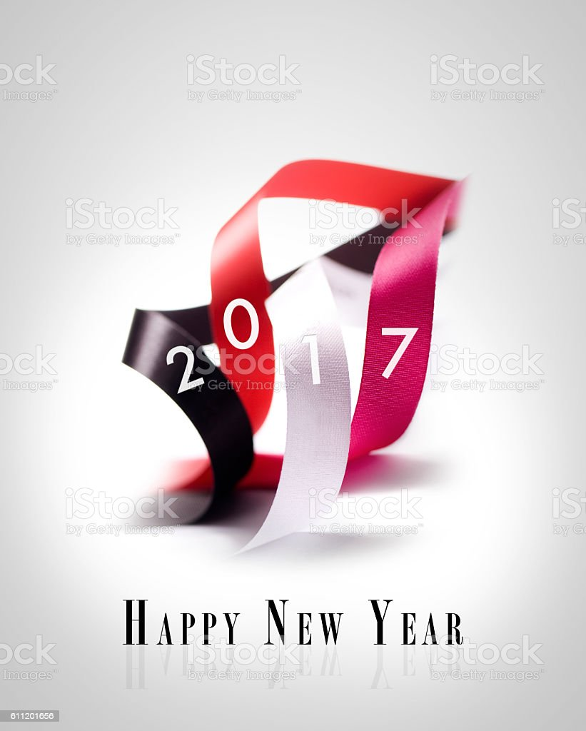 Greeting Card - Happy New Year 2017 stock photo