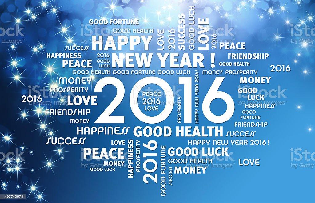 2016 Greeting card stock photo
