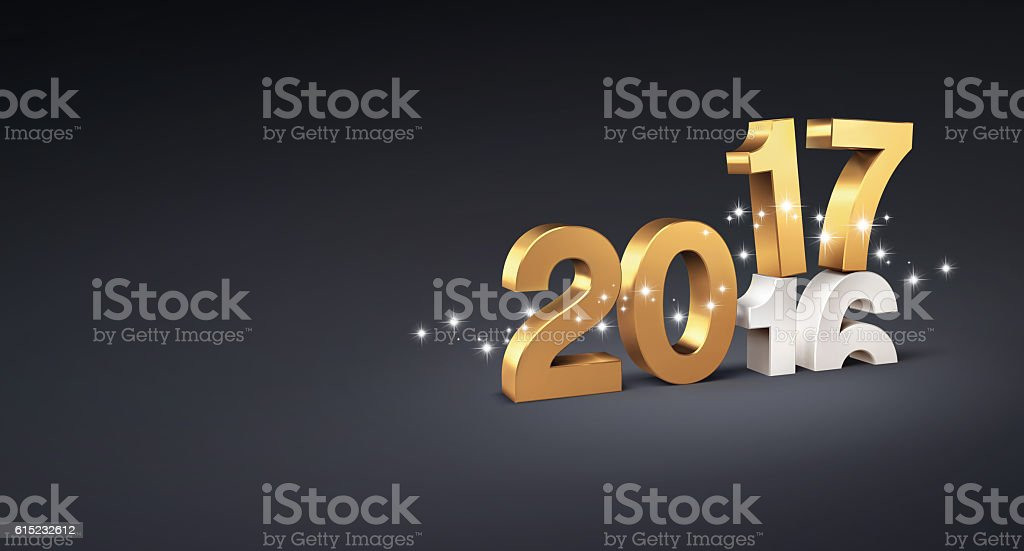 2017, Greeting card stock photo
