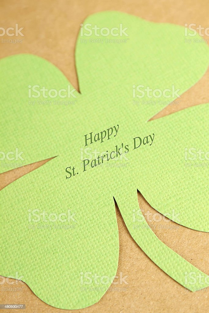 Greeting Card St. Patrick's Day royalty-free stock photo