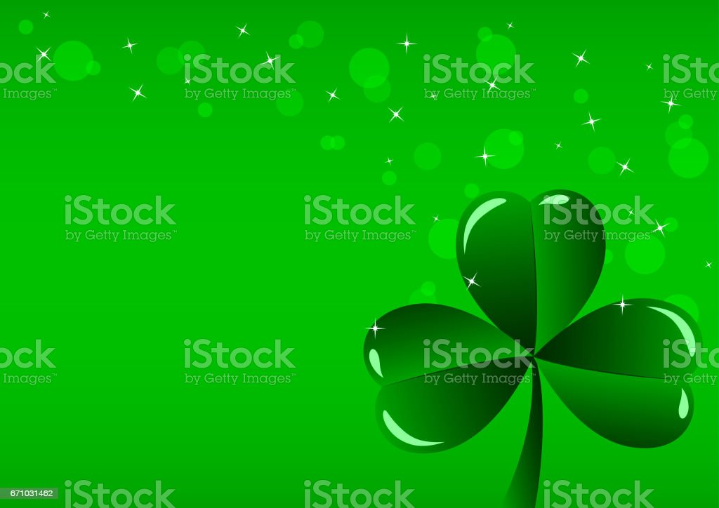 Greeting Card St. Patrick's Day stock photo