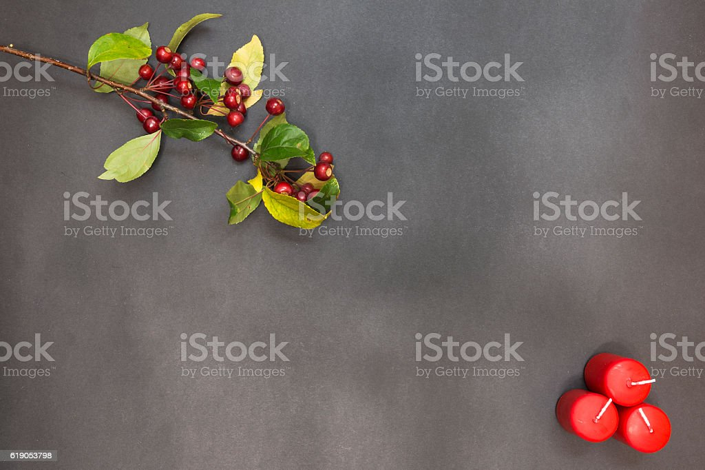 Greeting card with decoration party merry christmas stock photo