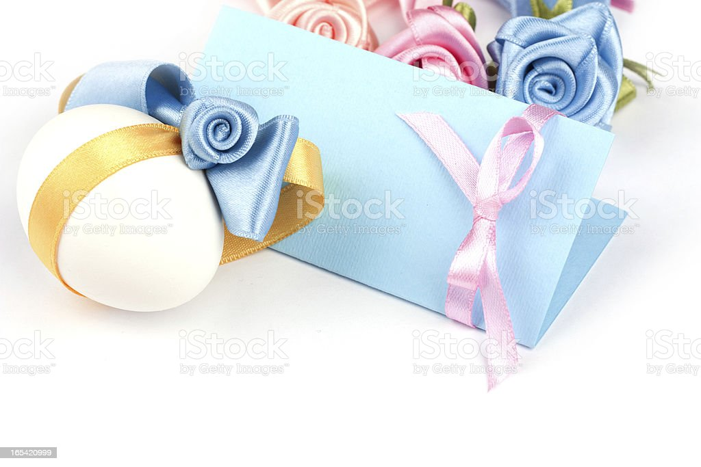 greeting card with Easter eggs royalty-free stock photo