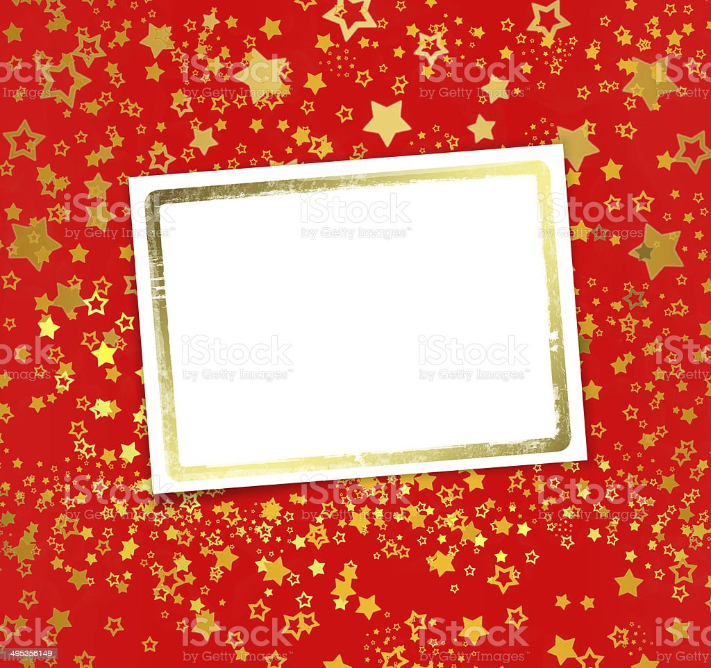 Greeting card with frame on a beautiful background stock photo