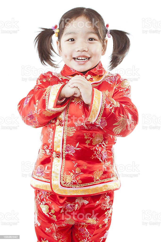 Greeting For Chinese Spring Festival stock photo