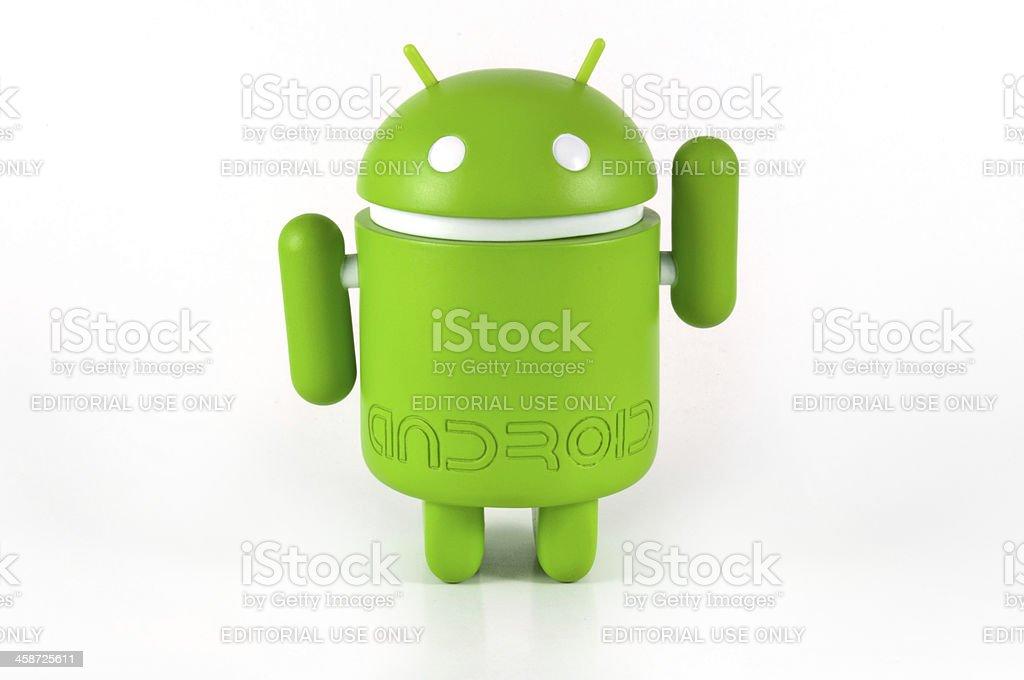 Greeting Google Android Mascot royalty-free stock photo