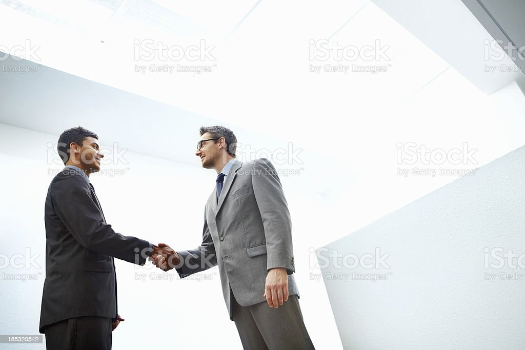 Greeting in the office royalty-free stock photo