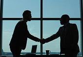 Greeting of businessmen