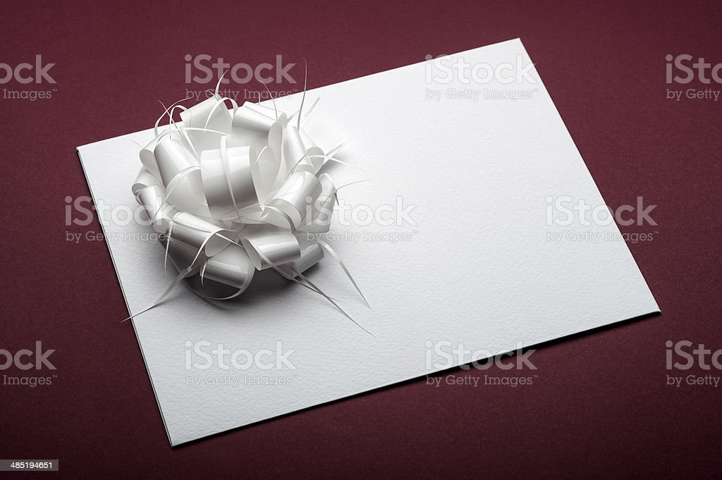 Greeting or gift Card royalty-free stock photo