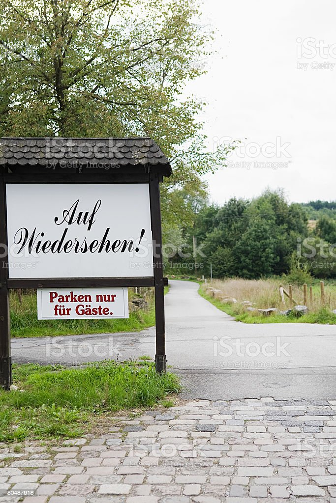 A greeting sign stock photo