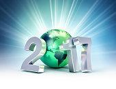 2017 Greeting symbol for environment