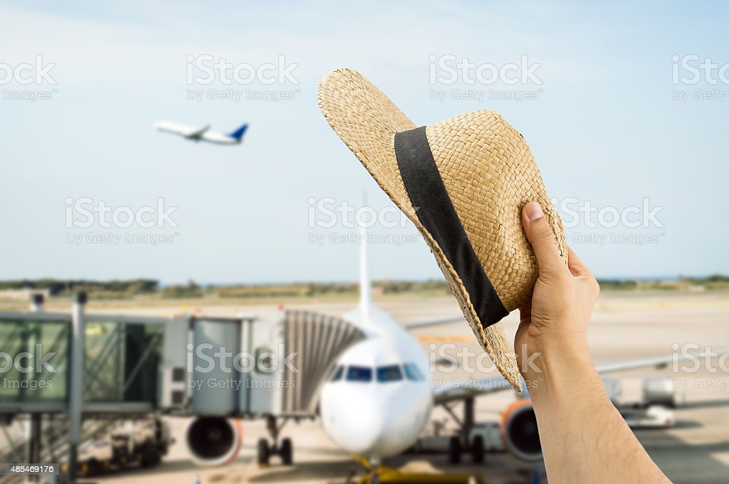 greeting the flight's people stock photo